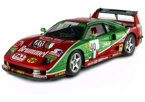 1995 FERRARI F40 COMPETIZIONE LE MANS #40 DIE CAST 1/18 HOT WHEELS ELITE V7427