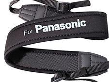 Weight Reducing Shoulder Neck Strap for Panasonic Anti-Slip Black Neoprene - UK