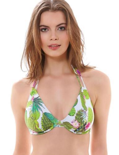 Freya CACTUS Bikini Top Ferretto allacciatura dietro il collo Lime Fizz 3881 Costumi da bagno