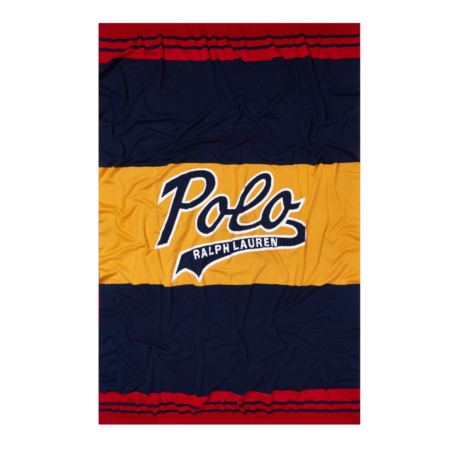 Polo Ralph Lauren Navy Klayton Collegiate 50  x 70  Throw Blanket New