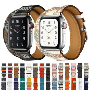 Leather Single Tour Double Tour Strap Band Bracelet For Apple Watch Series 5 4 3 Ebay