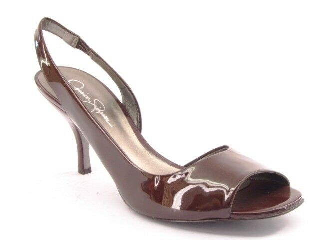 New JESSICA SIMPSON Damens Toe Leder High Heel Open Toe Damens Slingback Pump Schuhe Sz 9 B 0aa3ea