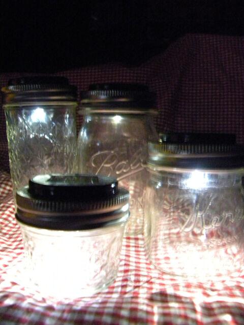 40 Solar Lid Light for Mason jar lights turns on automatically