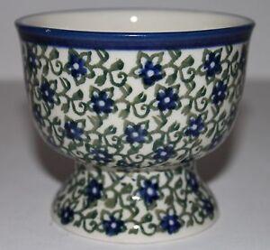 Polish-Ceramika-Artystyczna-Dessert-Cup-Bowl-Footed-Mug-Unikat-Stoneware-3-1-4-034