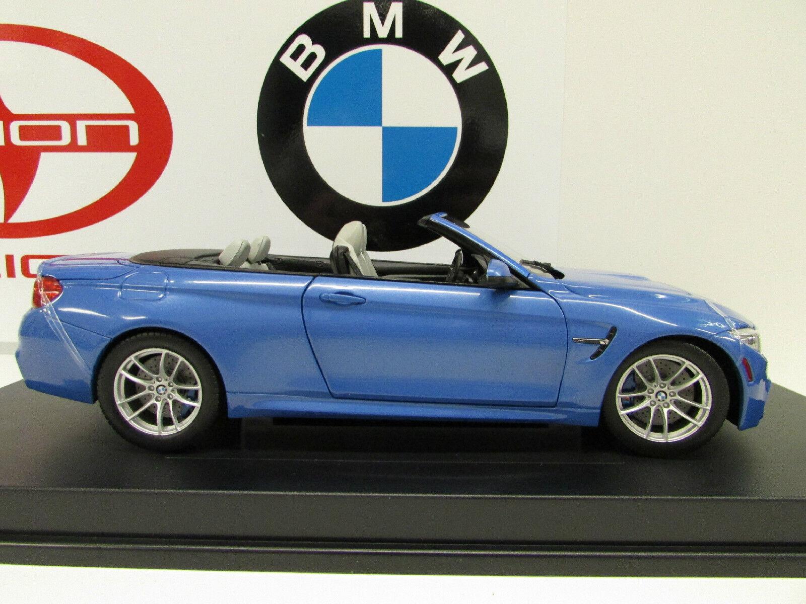 BMW M4 series F83     Yas Marina Blau 1 18th    Factory BMW Diecast