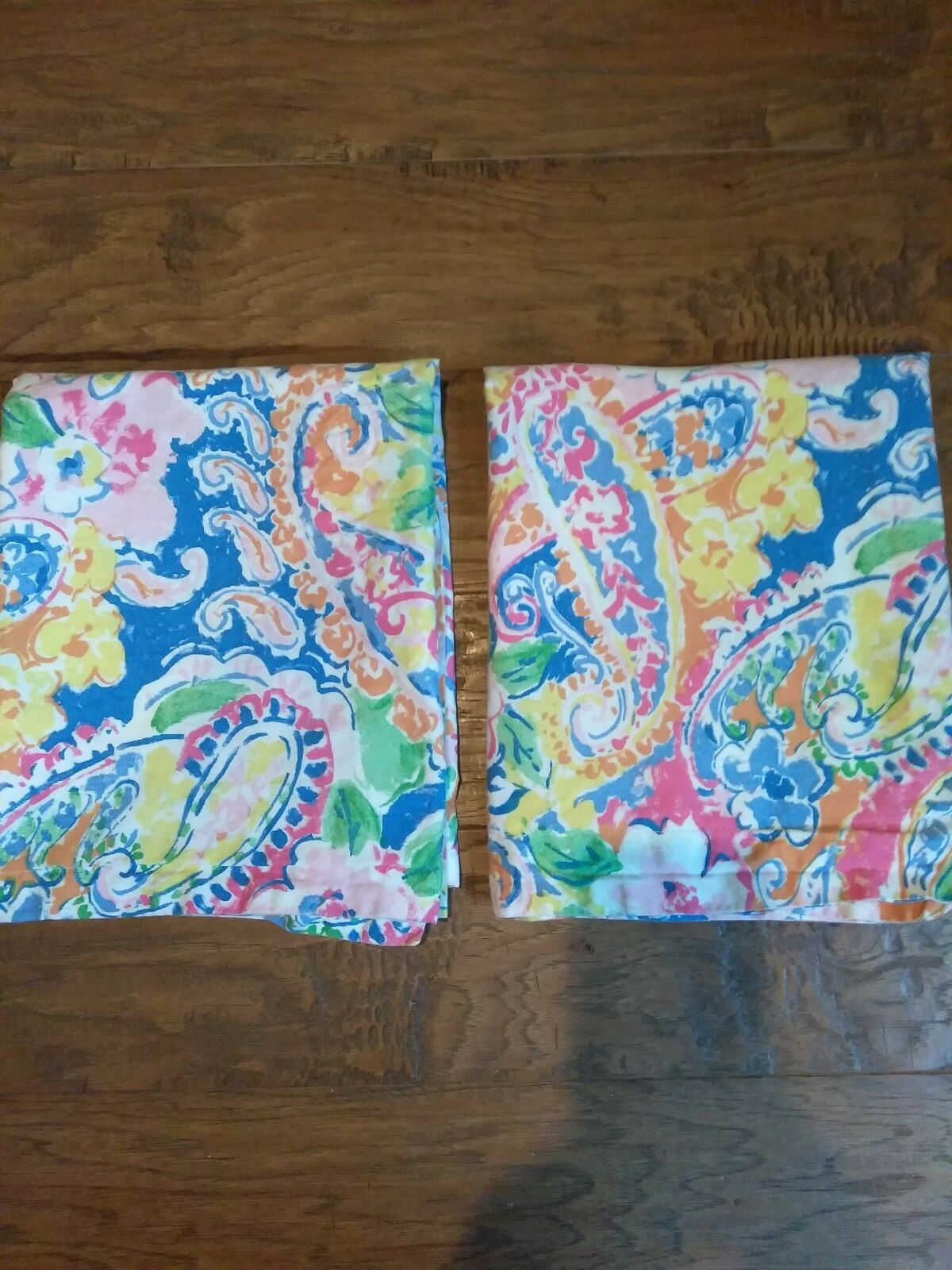 Ralph Lauren Springdale Paisley Floral Pair of King Shams Water colors