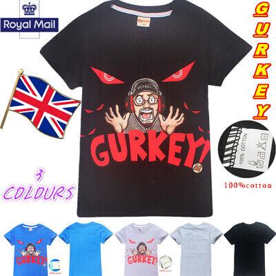 Gurkey Funnel Vision Mens Kids T-Shirt FGTeeV Gaming Team Boys Girls Top Tee