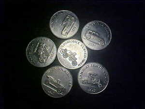 6-ANTIQUE-CAR-COIN-SERIES-TOKENS-GG114XXX