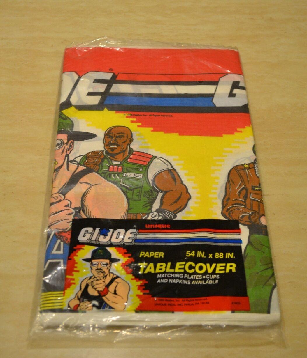 Rare Vintage G.I. Joe Paper Tablecover Party Tableware  54 x 88 - NIP Unique