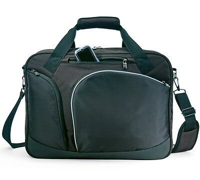 "GP Black Winner Fits 17"" Laptop Computer Messenger Bag Carry-on Casual Briefcase"