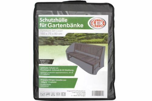 LEX Schutzhülle für Gartenbank bis 160 cm Bank Sitzbank Parkbank Abdeckung Hülle