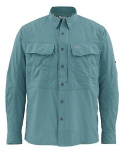 Simms-GUIDE-Long-Sleeve-Shirt-Cadet-Blue-NEW-Size-3XL-CLOSEOUT