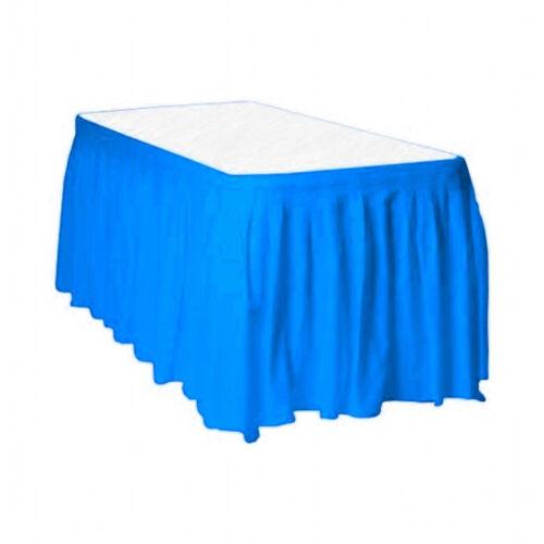 "Slate Blue 2 Plastic Table Skirts 13/' X 29/"" Streches-19/'"