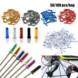 50//100X Aluminum Bike Bicycle Brake Shifter Inner Cable Tips Wire End Cap Crimps
