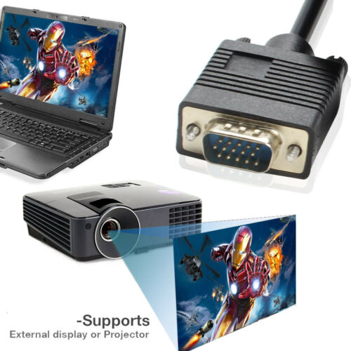 10M//8M//3M Long VGA to VGA Cable PC Computer Laptop to Projector LCD Monitor TV
