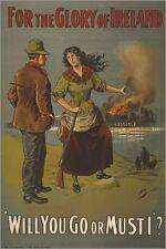 IRISH RECRUITMENT POSTER WW1 vintage war poster MILITARY political 24X36 new