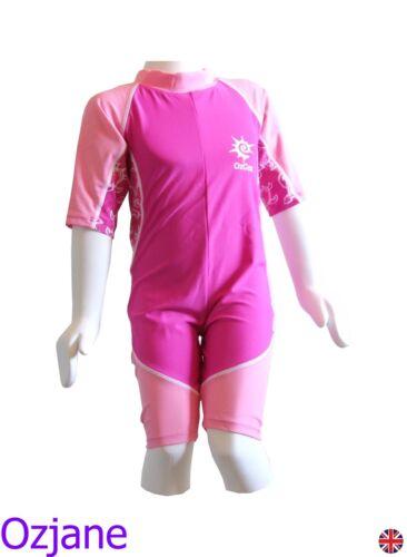 Chicas ozcoz Protección Solar UV 50 una pieza traje de baño traje de 2 a 3 años 2-3 Pnk