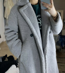 Womens Winter Teddy Bear Fleece Fur Fluffy Long Coat Jackets Outerwear lot MH