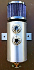 10AN Brushed Baffled Aluminum Oil Breather Tank Catch Can
