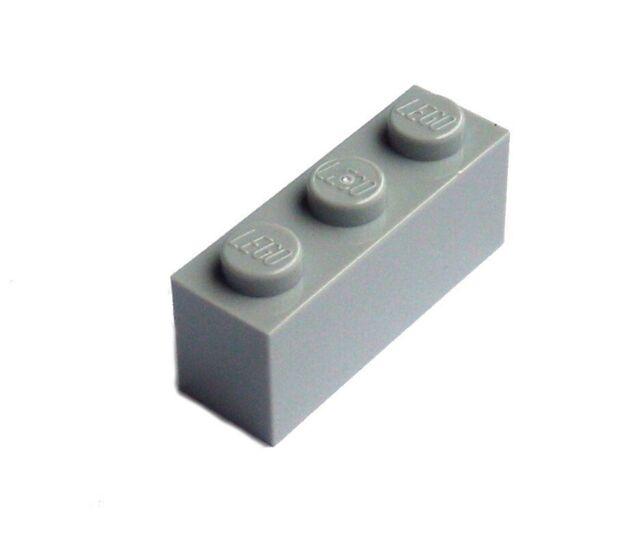Lego 50 Stück Stein 1x3 hell grau (light bluish gray) hellgraue Steine 3622 Neu