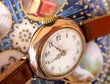 8 Karat Gold Damenarmbanduhr  Biel Schweiz MSO 1912 voll funktionstüchtig