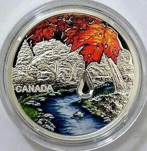 2017 Canadian $20 Jewel of the Rain: Sugar Maple Leaves