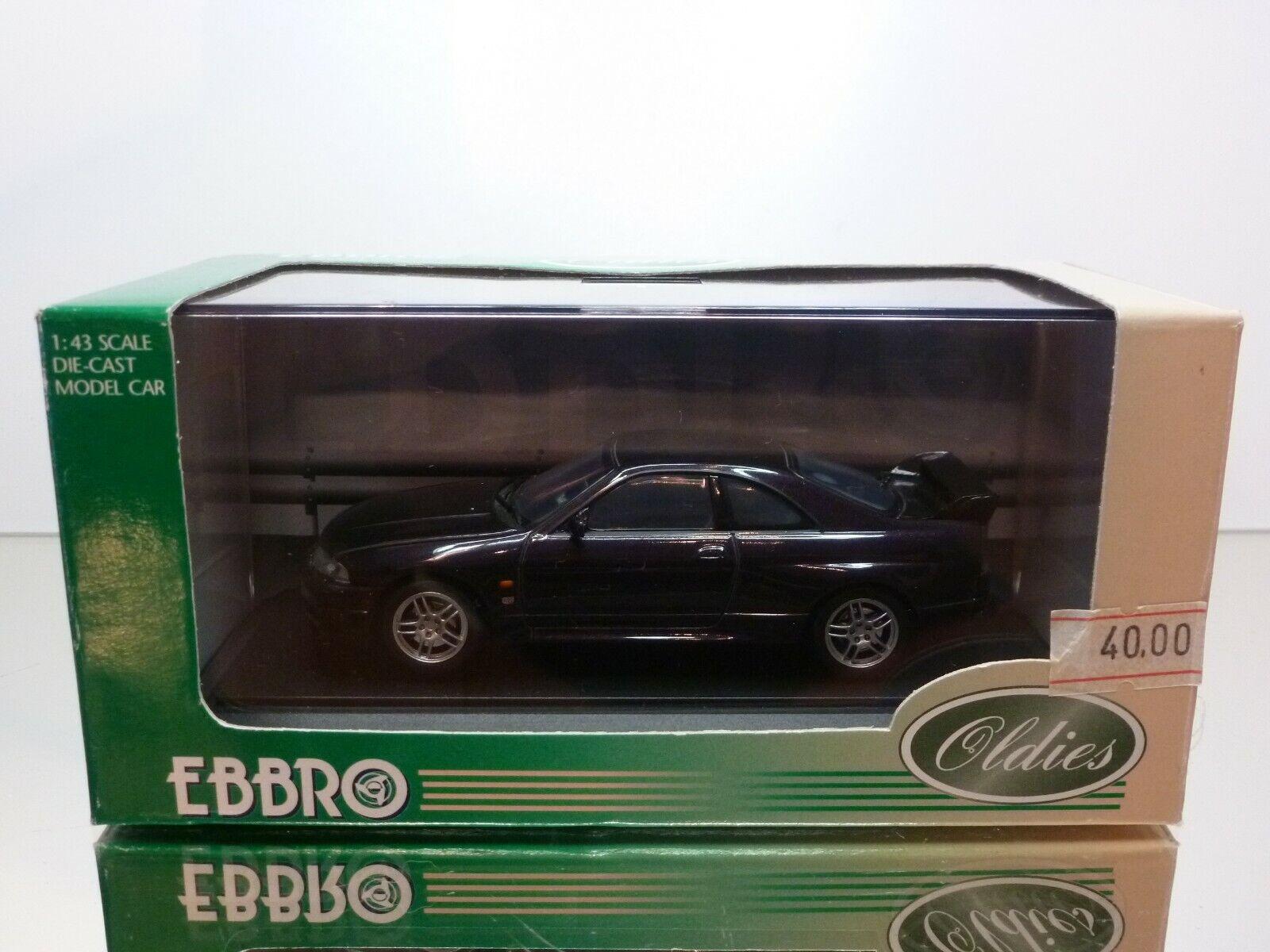 EBBRO 154 NISSAN SKYLINE GT-R R33 - MIDNIGHT PURPLE 1 43 - EXCELLENT IN BOX