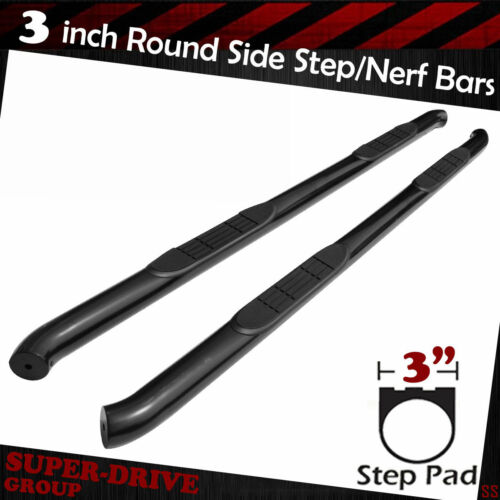 "For 2005-2019 TOYOTA TACOMA ACCESS CAB 3/"" Round Black Nerf Bars Side Steps Rails"