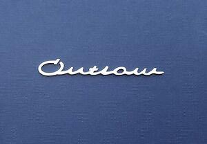 porsche 356 911 912 outlaw emblem for interior logo badge script ebay. Black Bedroom Furniture Sets. Home Design Ideas