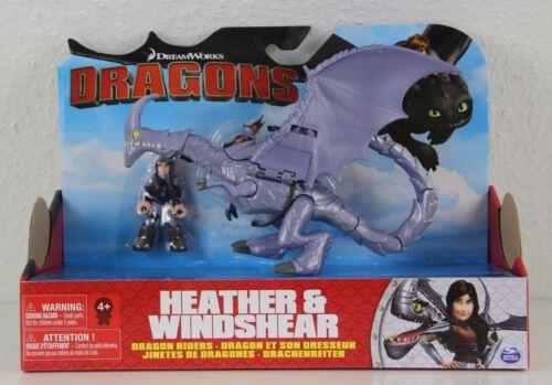 Dragons Drachenreiter Heidrun /& Windfang Drachenzähmen Heather /& Windshear