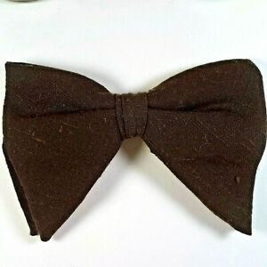 297f12ab4d1a Vintage Royal Men's Brown Jumbo Butterfly Bow Tie Clip on 5.75 x 4 ...
