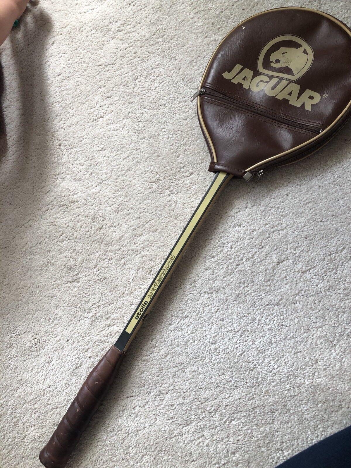 Vintage badminton en Bois JAGUAR badminton Vintage raquette 2465c1