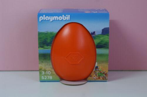 Playmobil Indianer-Mädchen mit Waldtieren Das große Osterei 5278 Ei