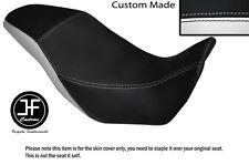 BLACK AND WHITE VINYL CUSTOM FITS HONDA CB 500 X 13-14 DUAL SEAT COVER ONLY