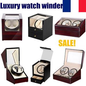 Watch-Winder-Remontoir-a-Montres-Automatique-Boite-de-Rangement-Silencieux-bois