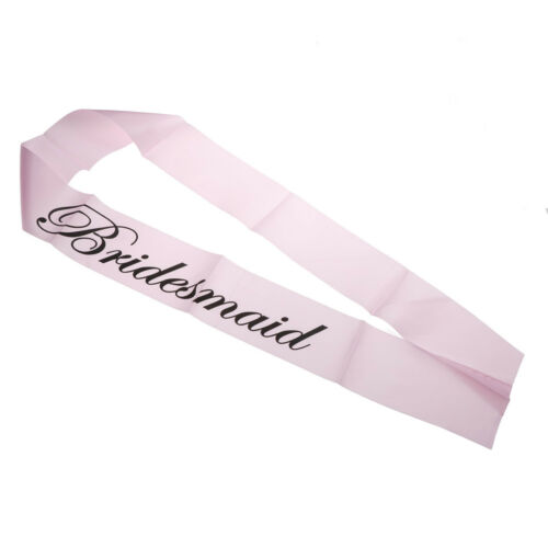 1Pc Pink Bachelorette Party Sashes Bride To Be Sash Maid Honor Bridesmaid FE