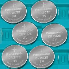 6 NEW PANASONIC CR2025 ECR 2025 Batteries 3V Exp.2026