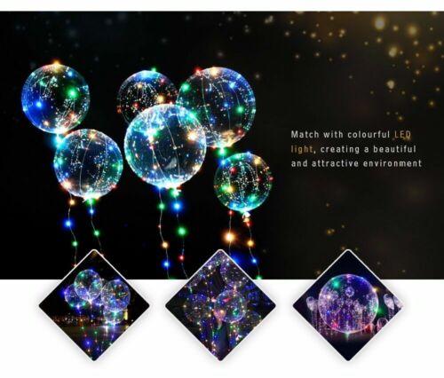 1 LED Light Up Bobo Balloon Transparent Wedding Birthday helium Party Decor Lamp