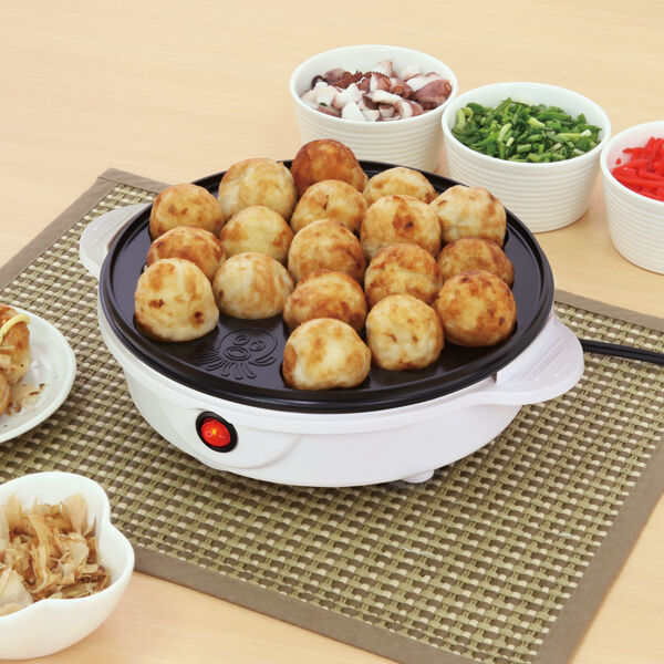 Electric Takoyaki Cooker Takoyaki Pan Pan Pan 18 molds Japanese Foods AC 100V 50 60Hz b79e6e