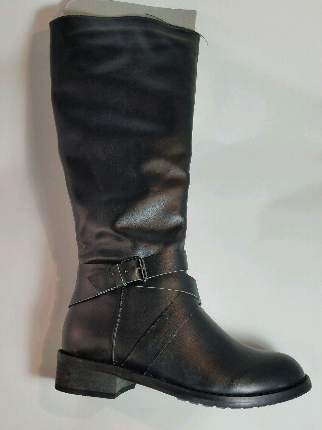 Bucco Capensis Venita Black Women's Riding Boot SIZE 6.5 BOX IS DISTRESSED