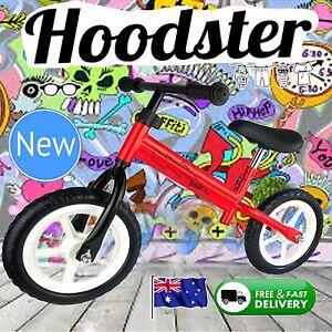 NEW-12-034-Boy-Girl-Children-Balance-Bike-Red-Hoodster-TM-Classic-Strider-Model