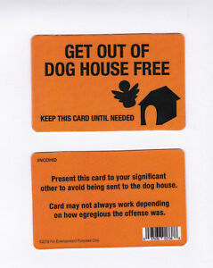 Details about Get Out of Dog House Free CARD / fake id card Drivers License  - escape jail