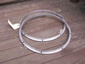 Site Officiel Vintage Lot De Walberg & Auge Aluminium 8 Lug Snare Drum Jantes Hoops Percussion-afficher Le Titre D'origine MatéRiaux De Qualité SupéRieure
