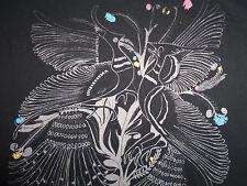 The Sound Of Change Rhythm Peacock Black Graphic Print T Shirt - L
