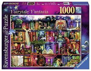 Ravensburger-Fairytale-Fantasia-1000pc-Jigsaw-Puzzle-Library-Books-Shelves