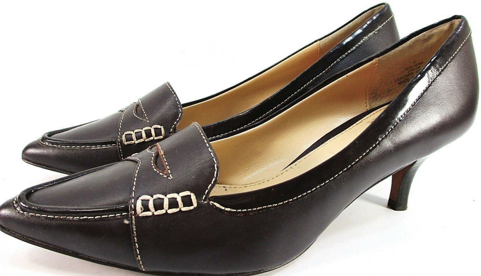 Oscar de La La La Renta damen Penny Loafer Heels Größe 7 M braun Leather 2.5  Heels edf396