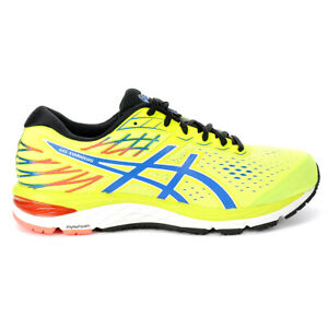 ASICS Men's Gel-Cumulus 21 Safety Yellow/Electric Blue Running Shoes 1011A551...