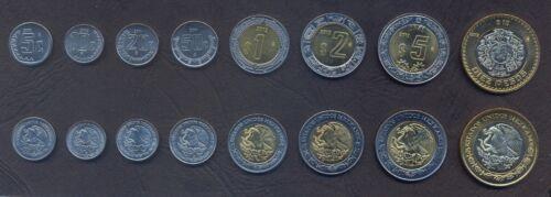 1+2+5+10 Pesos 2001-2012 UNC LOT 8 MEXICO COMPLETE COIN SET 5+10+20+50 Centavos