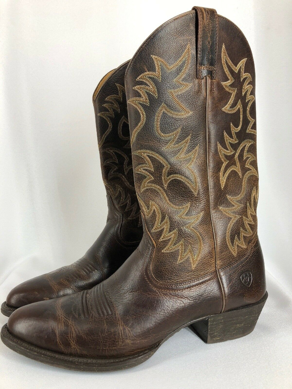 Ariat Men's Cowboy Boots Size 13 B NARROW  Genuine Leather WESTERN Brown