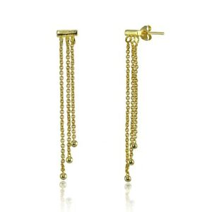 Dainty-Beads-Chain-Drop-Dangle-Earrings-in-Gold-Plated-Sterling-Silver